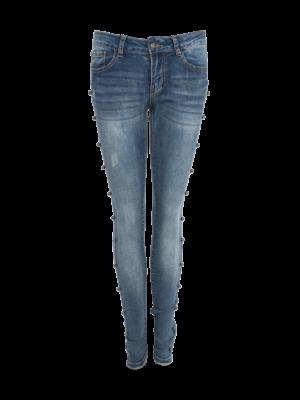 jeans met aan de zijkant parel studs