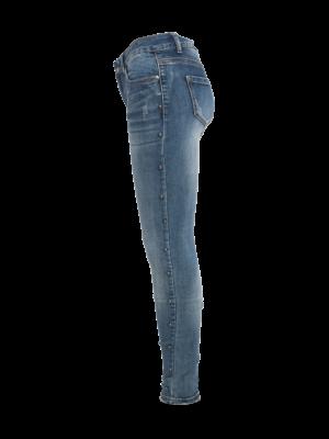 jeans met aan zijkant parel studs
