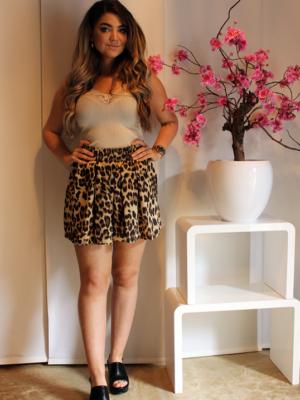 rok met panterprint boven knie