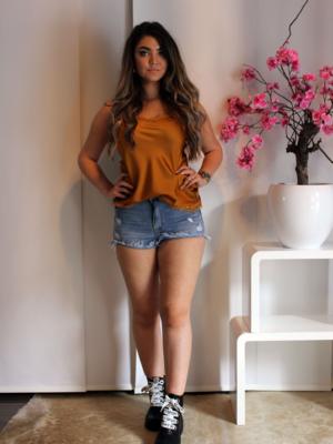jeans shortje kort spijkerstof